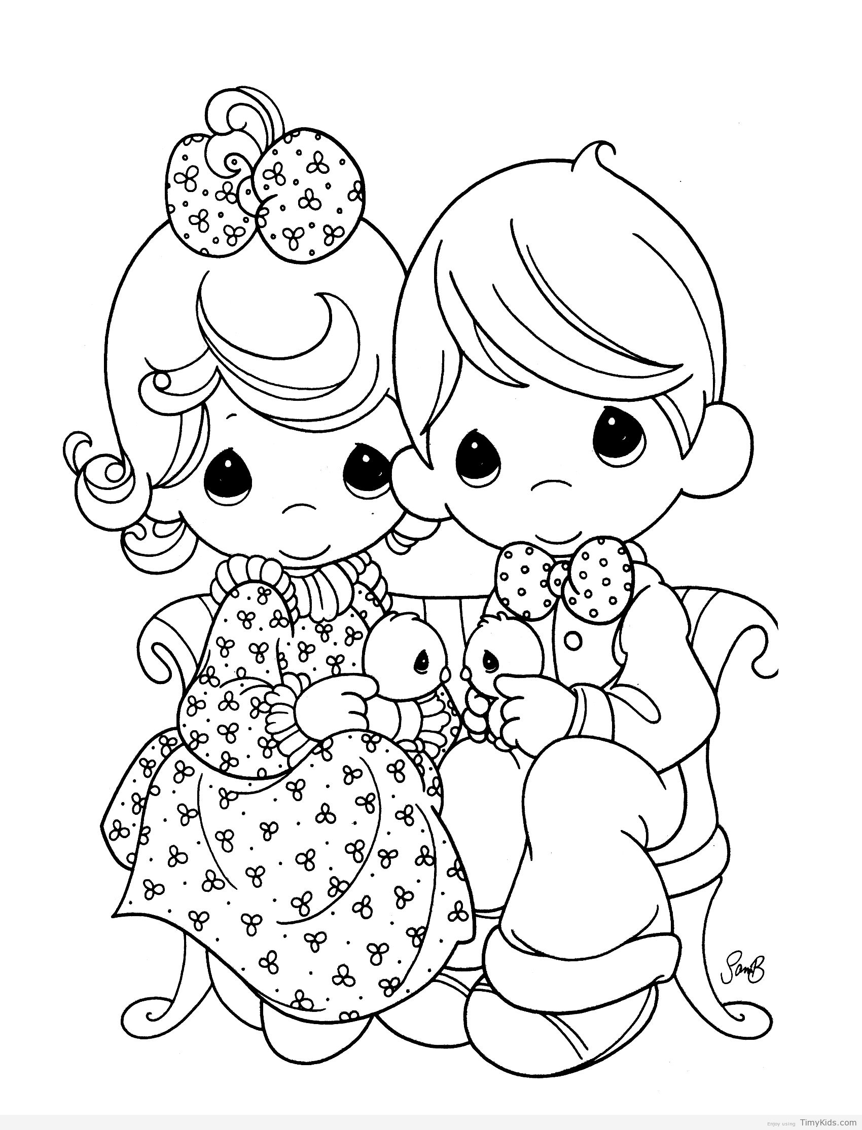 http://timykids.com/coloring-pages-precious-moments.html | Dessin #4 ...