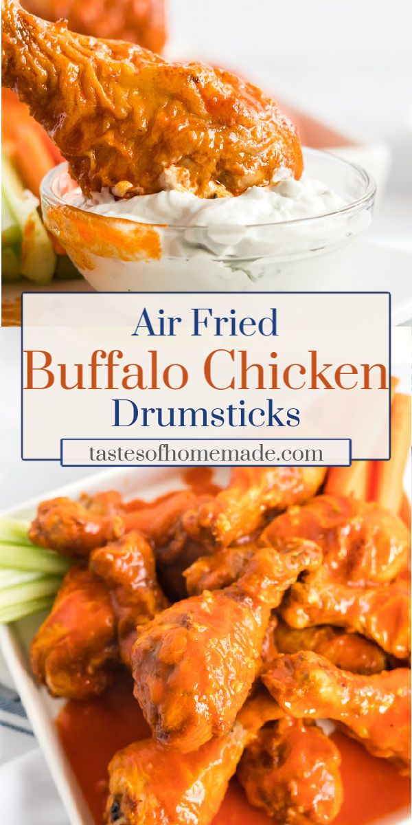 Air Fryer Buffalo Chicken Drumsticks Recipe in 2020