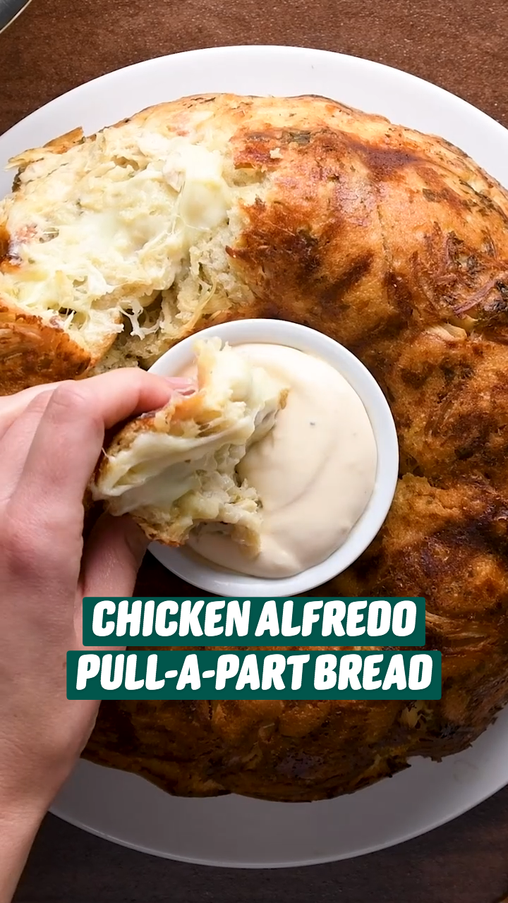 CHICKEN ALFREDO PULL A PART BREAD