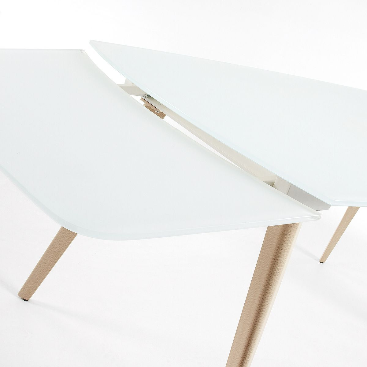 Table Extensible Smoth 120 180 X 80 Cm Blanc Taille 8 Pers