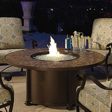 Santorini 54 Quot Round Chat Fire Pit Table Woodlanddirect