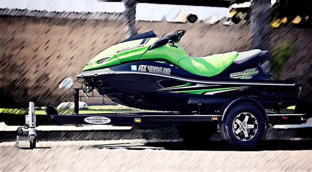 Custom Single Watercraft Trailer Black Shadow Trailers Jet Ski Trailer Water Crafts Jet Ski