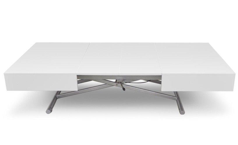 Table Basse Relevable Sundance Blanc Laque Table Basse Relevable