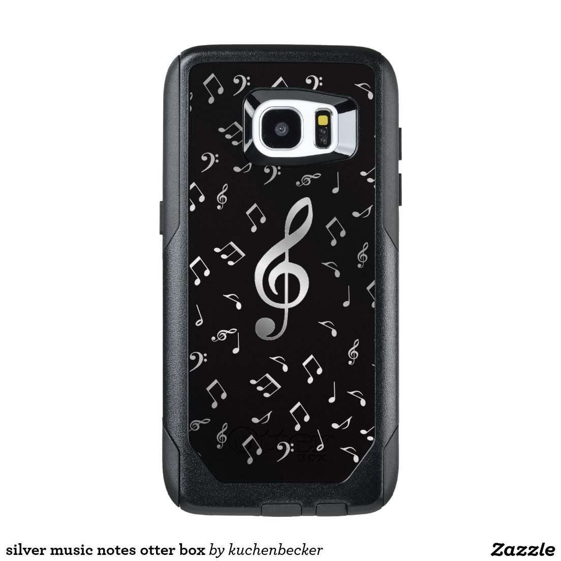Silver Music Notes Otter Box Otterbox Samsung Galaxy S7 Edge Case Galaxy S7 Phone Cases Otterbox Cases Samsung Samsung Phone Cases