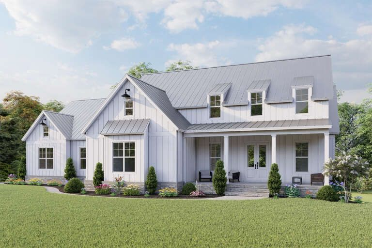 House Plan 699 00284 Modern Farmhouse Plan 2 793 Square Feet 3 4 Bedrooms 2 5 Bathrooms Modern Farmhouse Plans House Plans Farmhouse House Plans