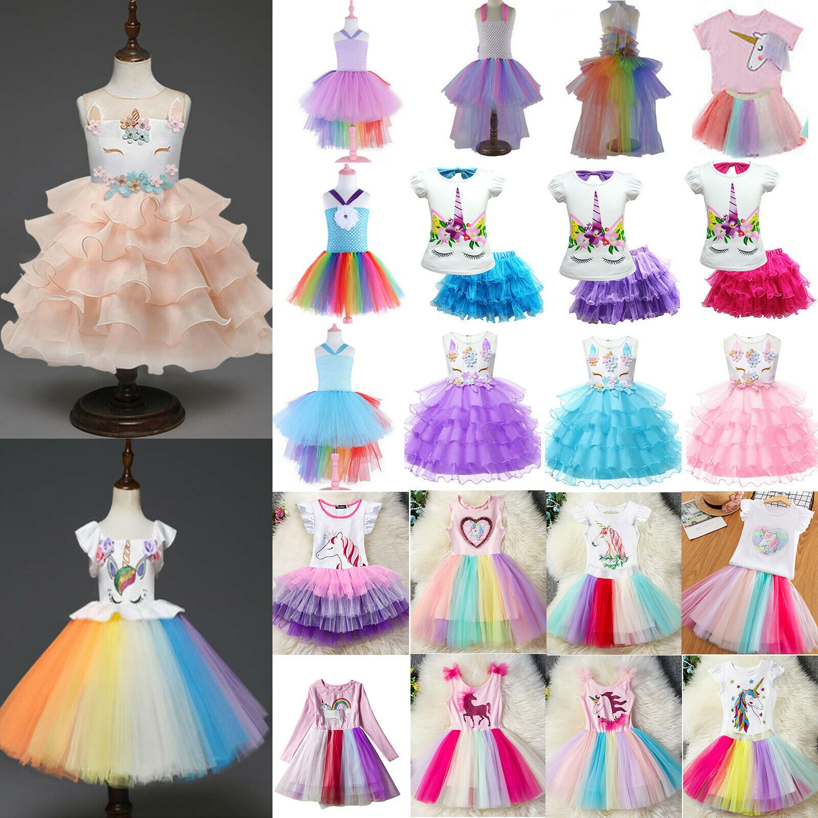 Flower Girl Dress Kids Princess Dresses Birthday Party Pageant Costume Tutu Gown