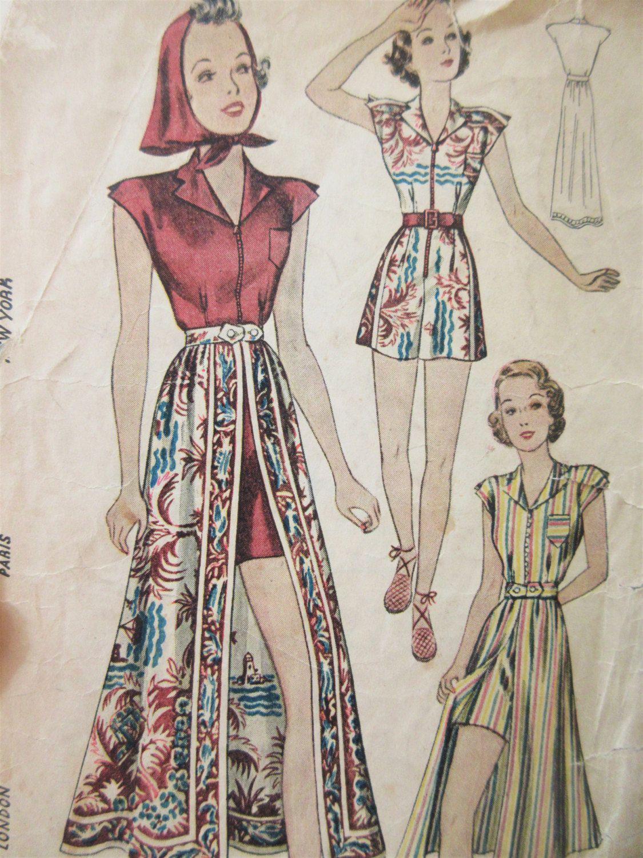 Vintage simplicity 2767 sewing pattern 1930s playsuit pattern vintage simplicity 2767 sewing pattern 1930s playsuit pattern bust 32 1930s skirt pattern jeuxipadfo Choice Image