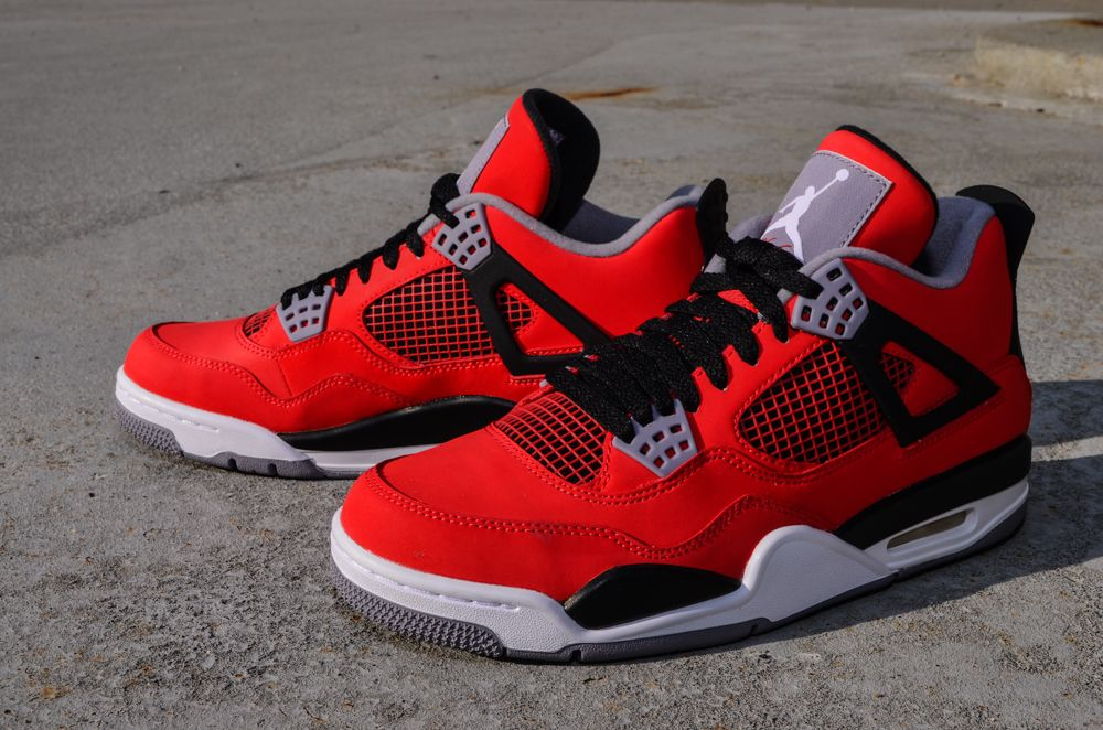 nike air jordan retro 4 toro red iron