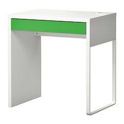 MICKE Desk - white/green - IKEA