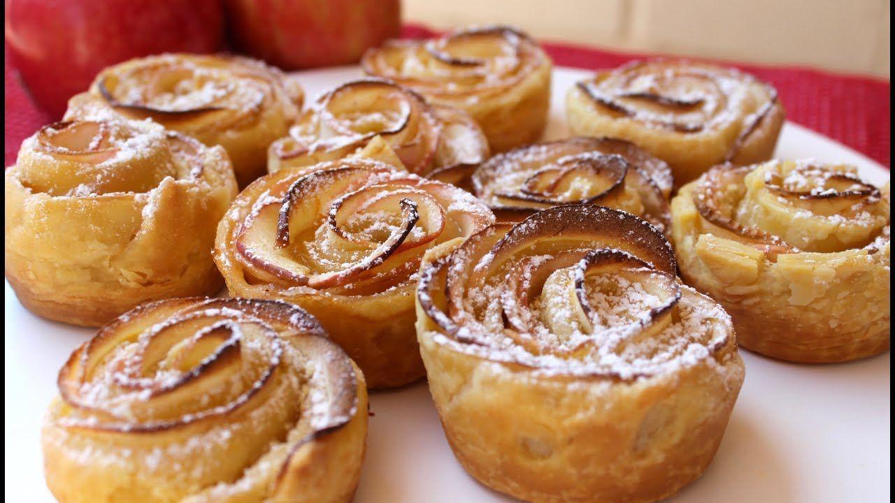 Easy recipe: How to make apple roses with custard filling #apfelrosenblätterteig Easy recipe: How to make apple roses with custard filling - YouTube #apfelrosenrezept