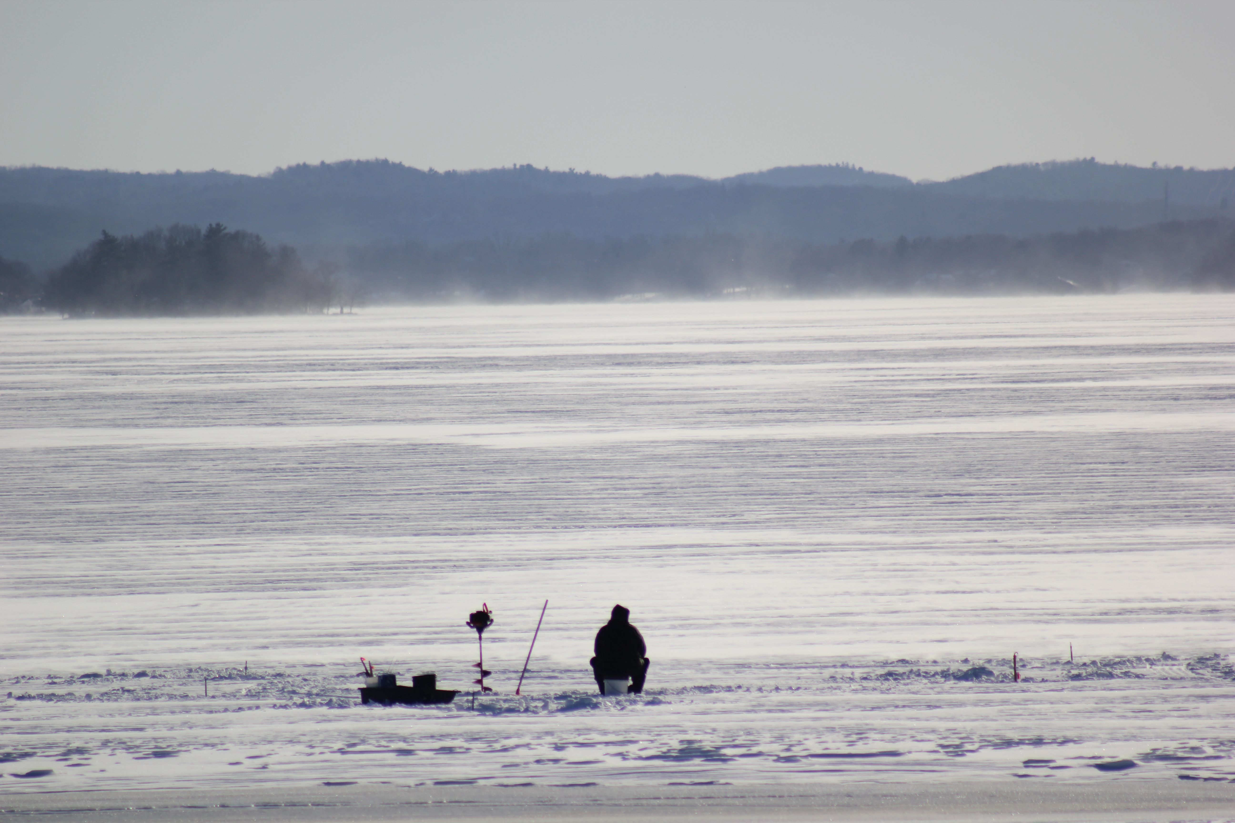 Ice fishing on greenwood lake ny winter at the lake for Ice fishing ny