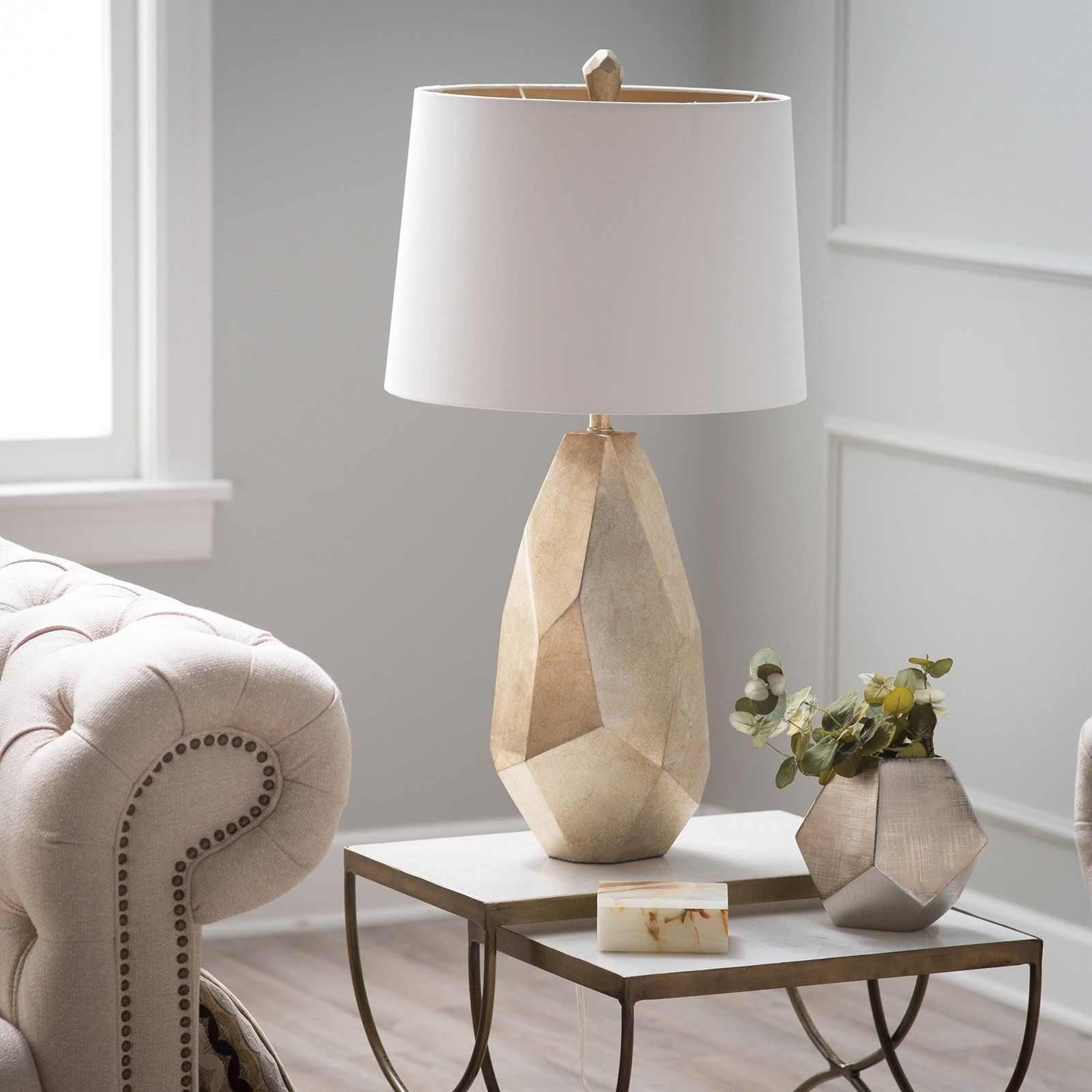 Pacific Coast Lighting Avizza Table Lamp   Faceted And Finished To Bringu2026