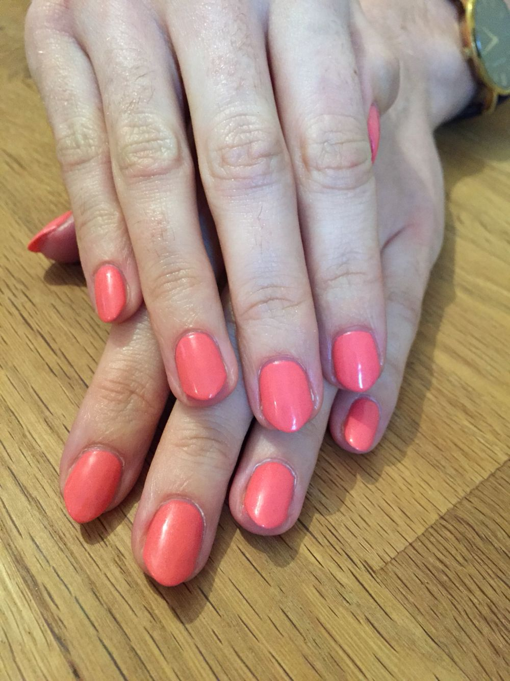 Jessica Geleration Coral Reef With Images Gel Nails Jessica