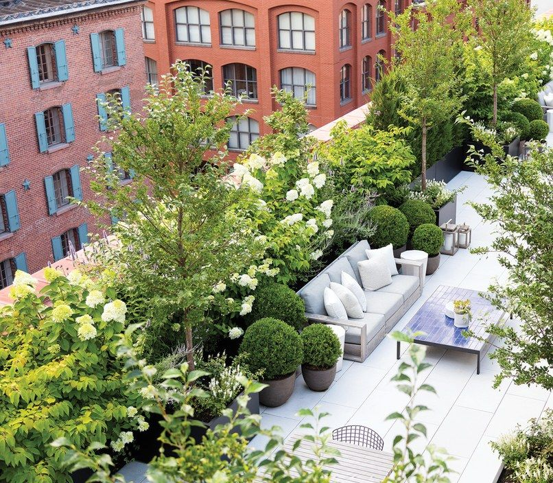 LandscapeDesign Team Harrison Green Masters the Art of Gotham Gardening is part of Rooftop garden urban, Rooftop garden, Garden landscape design, Roof garden, Landscape design, Terrace garden - The husbandandwife duo behind Harrison Green brings a unique approach to the landscape design world
