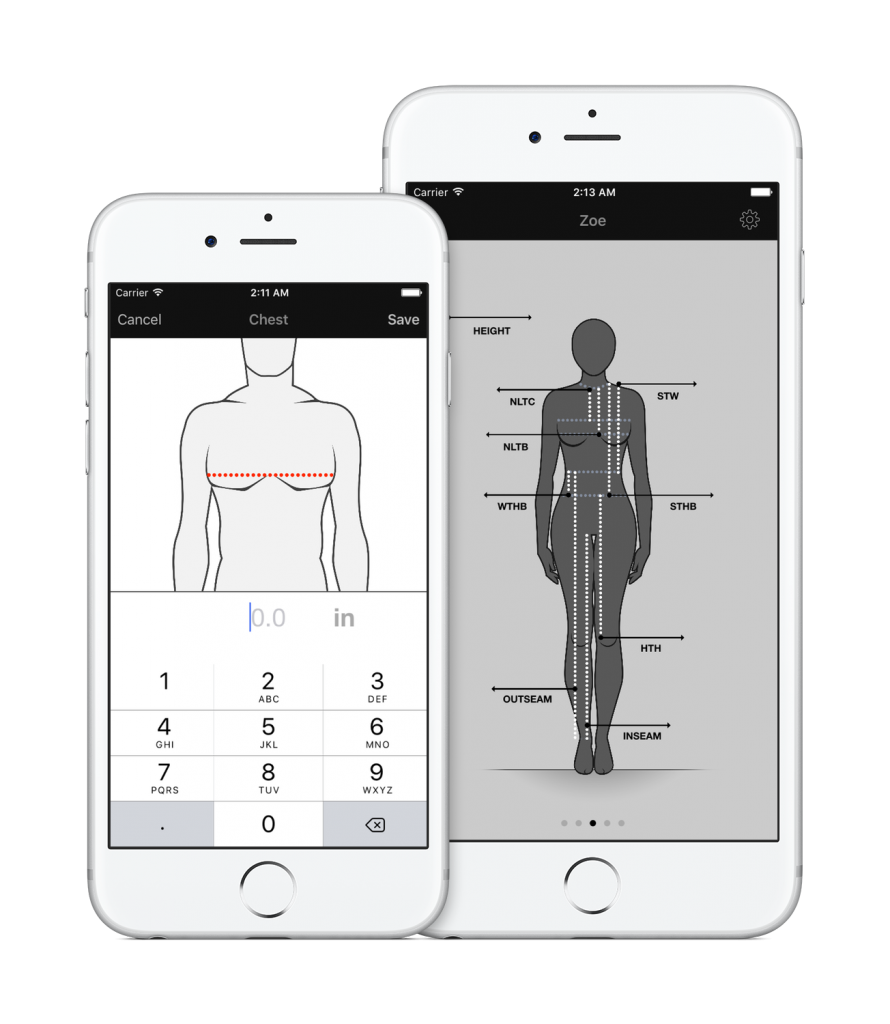 body measurement clothing measurement app for easy storage of measurement info store your clothing measurements easily