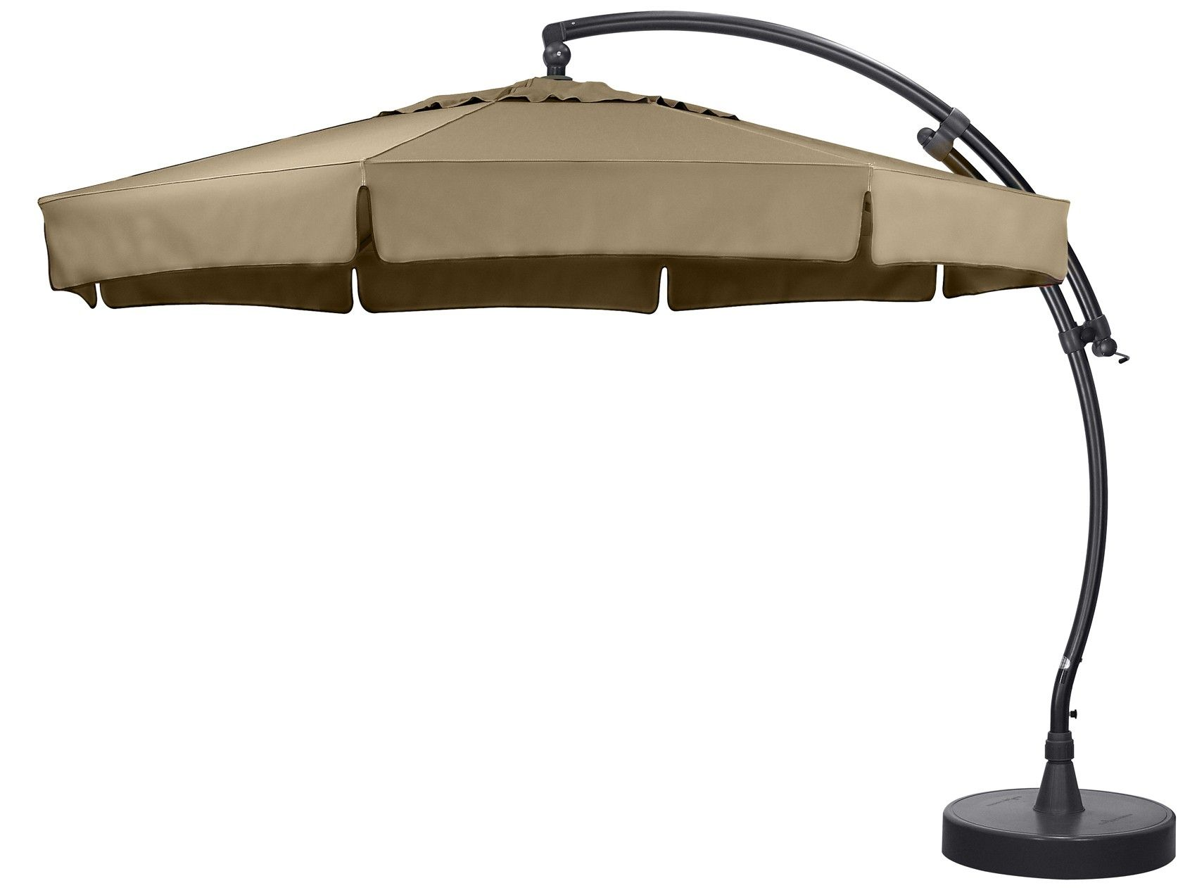 kit parasol deporte avec pied polyester 350 taupe au. Black Bedroom Furniture Sets. Home Design Ideas