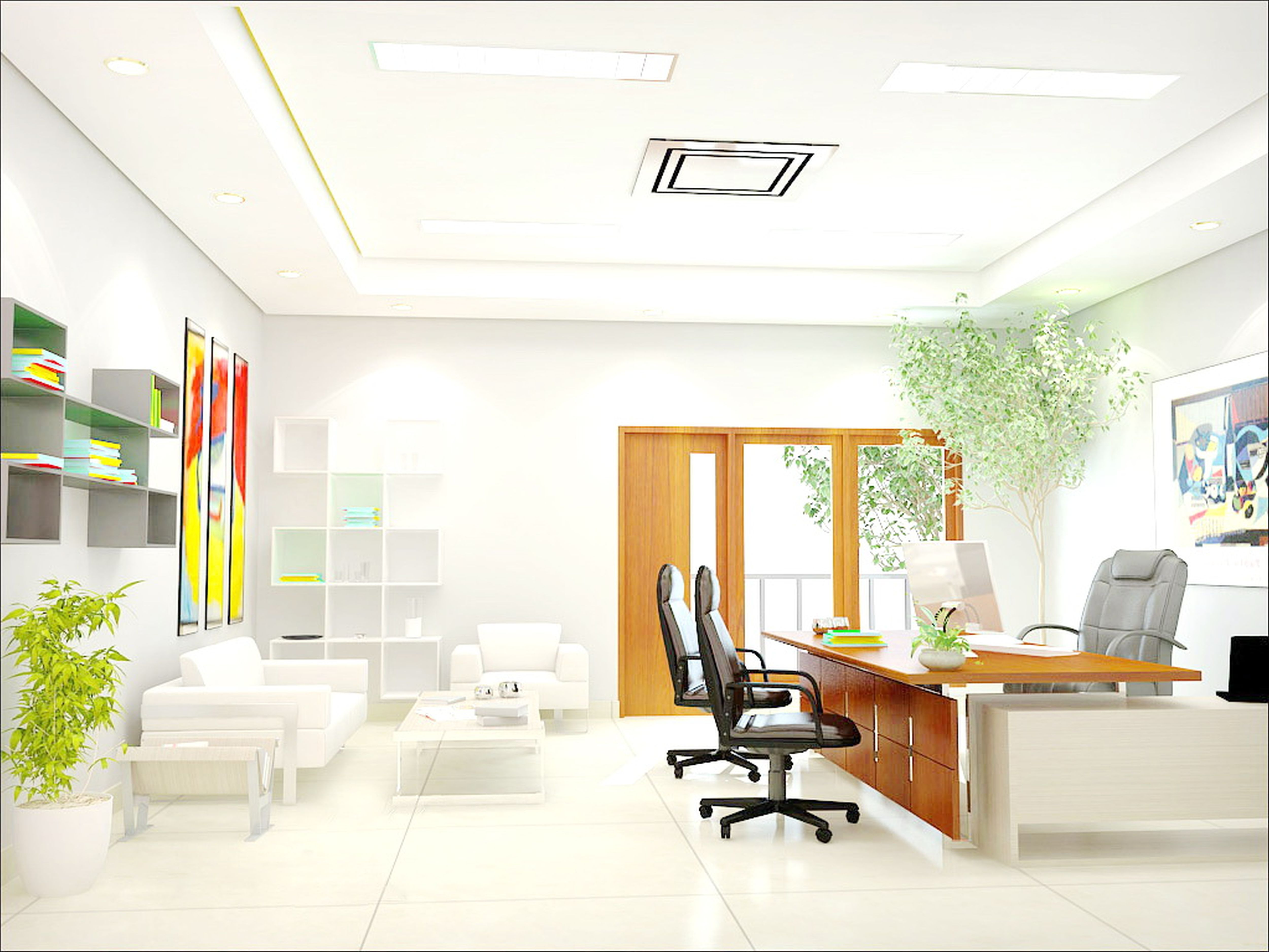 Affordable interior design office interior design abu for Office wall interior
