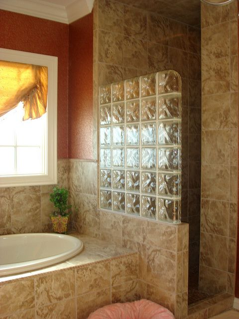 Glass Block Shower Entrance Glass Block Shower Bathroom Bathtub Remodel