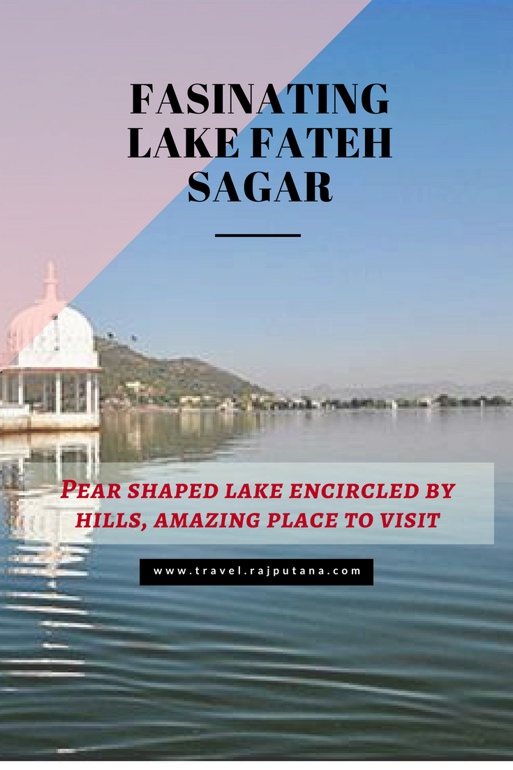 Pear shaped lake encircled by hills, amazing place to visit