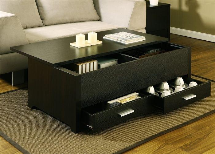 Storage Coffee Table W Drawers Living Room Tables Espresso Trunk Style Table Coffee Table Espresso Living Room Furniture Wood Table Living Room