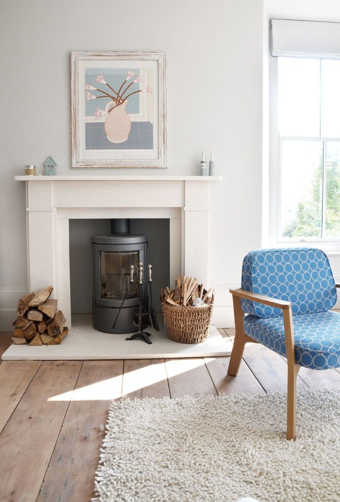 Wood burning stove ideas google search home - Living room with wood burning stove ...