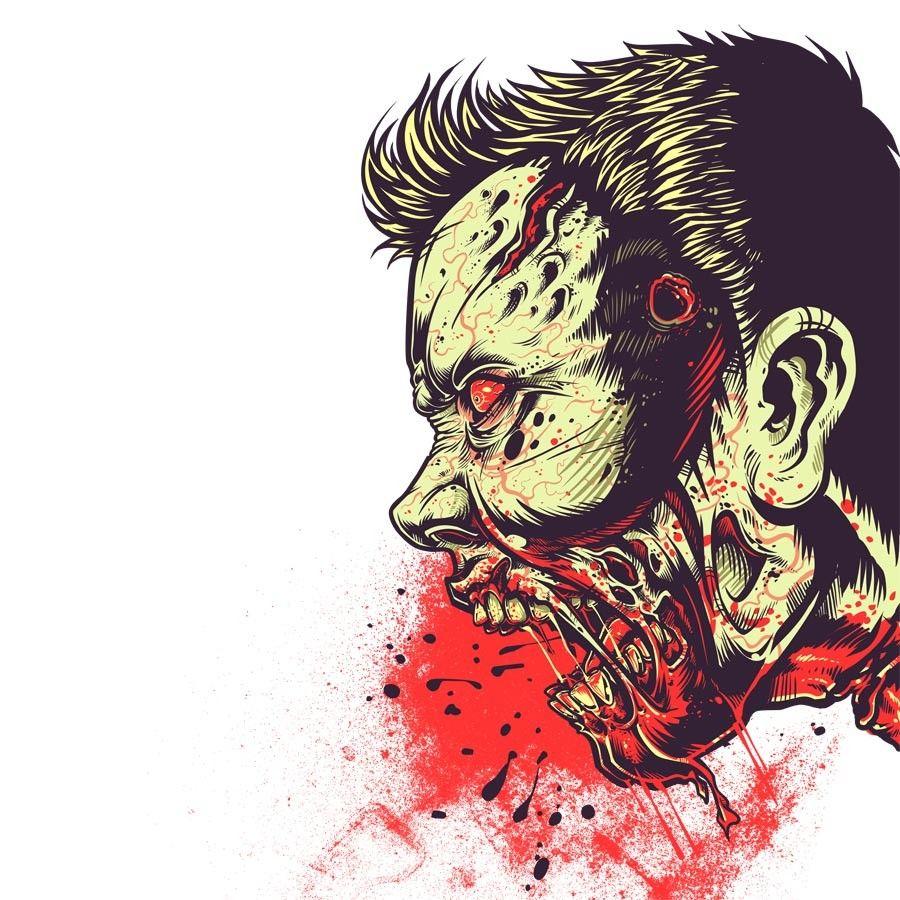Design t shirt artwork - Digital Art Selected For The Daily Inspiration 1306 Zombie Shirtt Shirt Designsthe