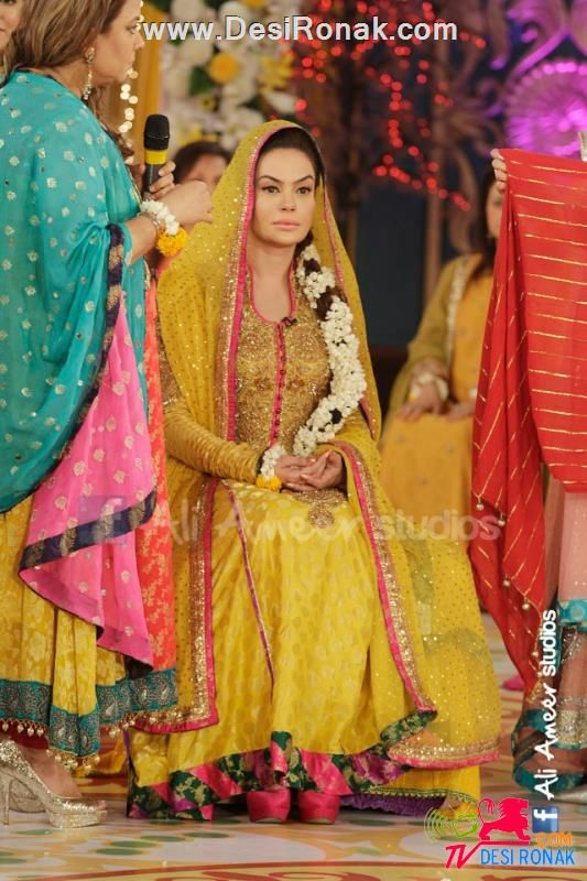 ed8f9512d1 Pakistani celebrity wedding, Sadia Imam. Mayun or Mehndi dress ...