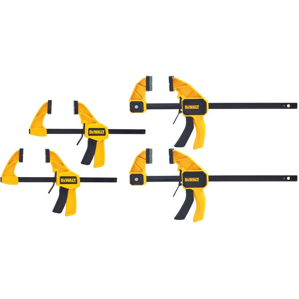 DEWALT Medium and Large Trigger Clamp (4-Pack)-DWHT83196 - The Home ...