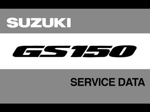 suzuki gs150 service data manual how to s pdf link in description