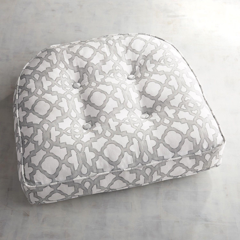 large contour chair cushion trellis pewter large chair cushions