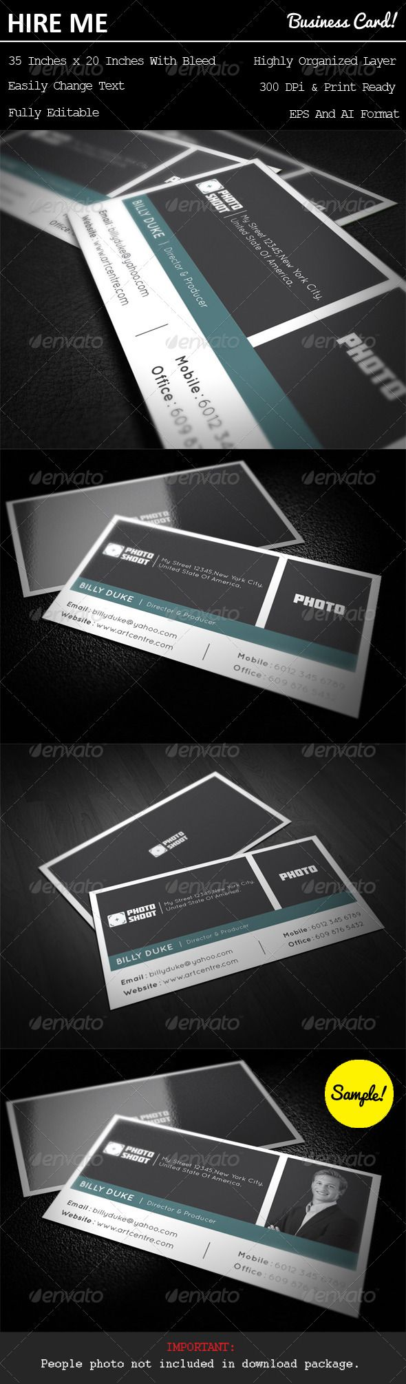 Photo Shoot Business Card   Business cards, Photo shoots and Business