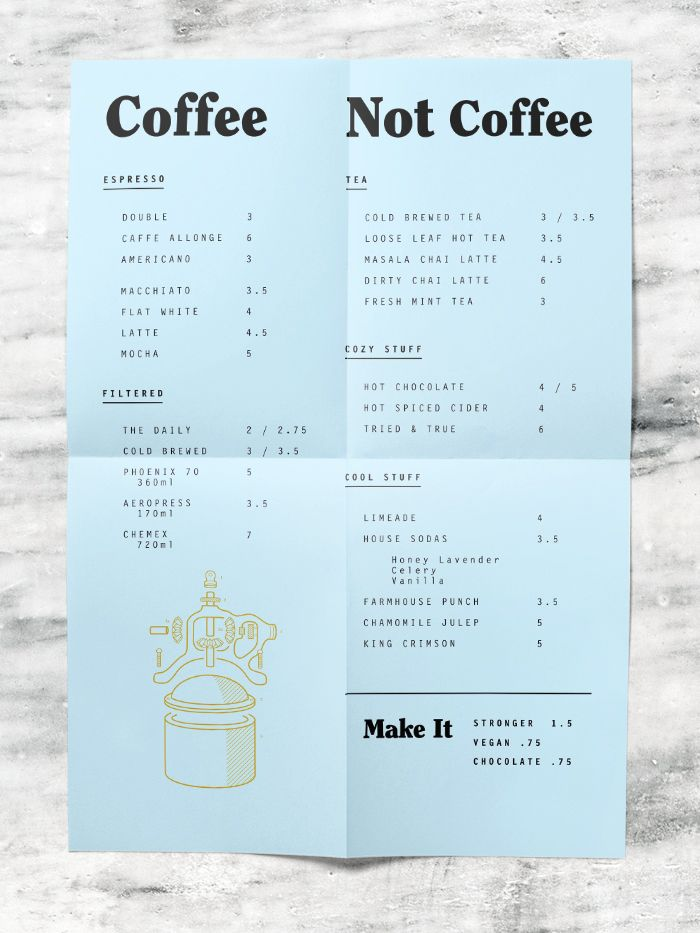 Till \ Sprocket Menu by Will Gardner Design Pinterest Menu - coffee menu