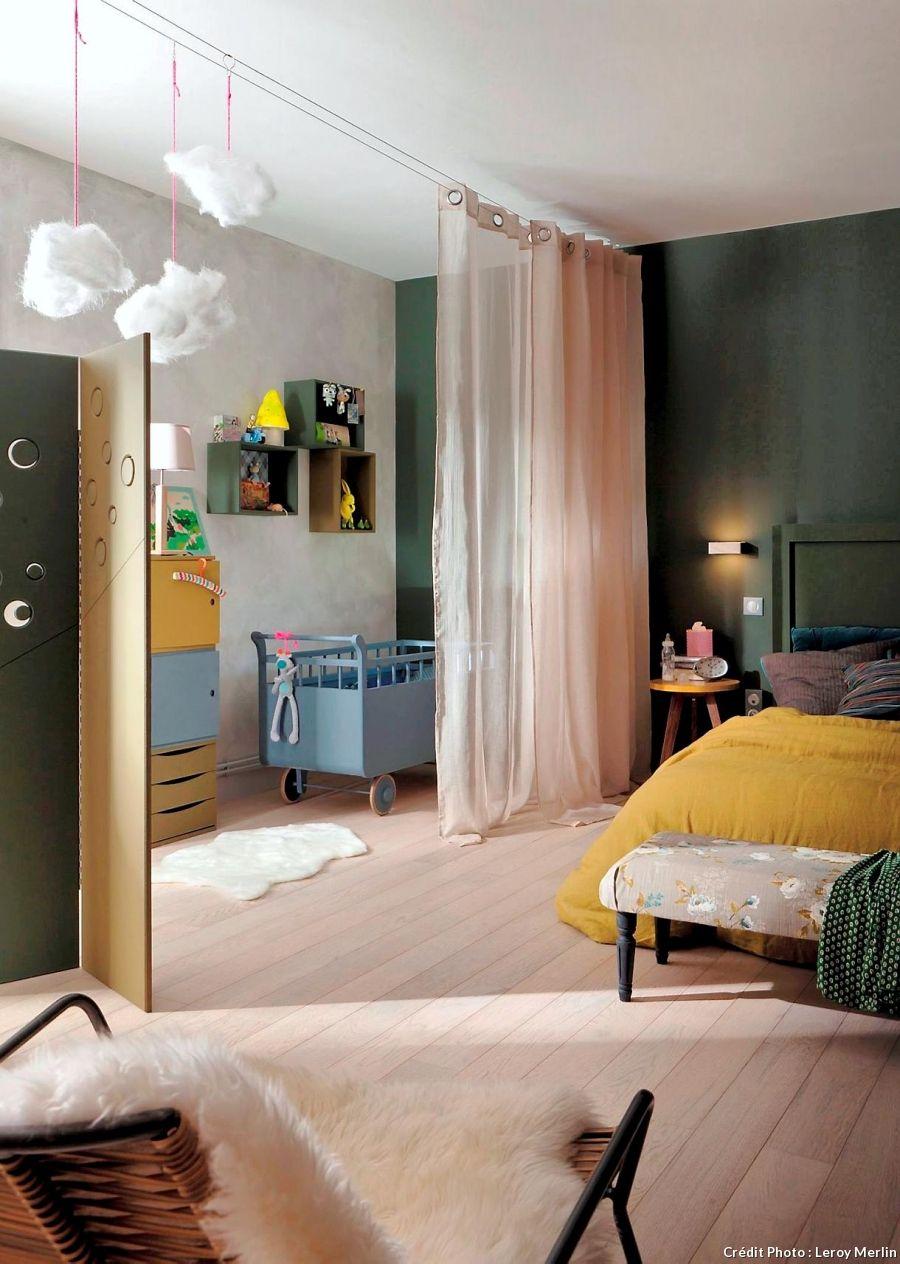 comment diviser une chambre en deux sans faire de travaux. Black Bedroom Furniture Sets. Home Design Ideas