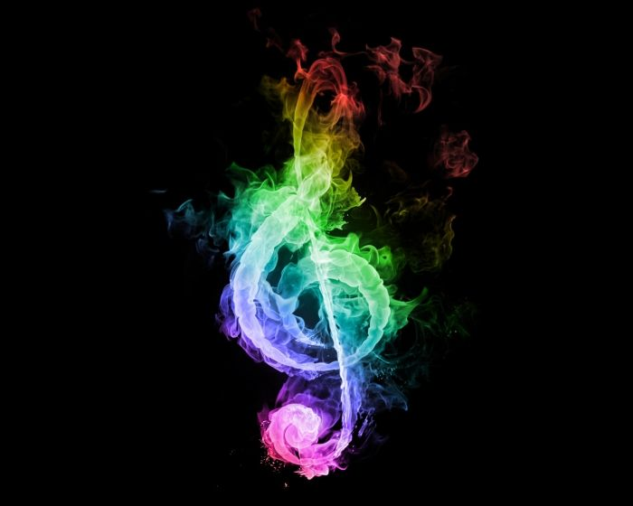 Colorful Neon Music Notes Wallpaper Artcolors Music Music