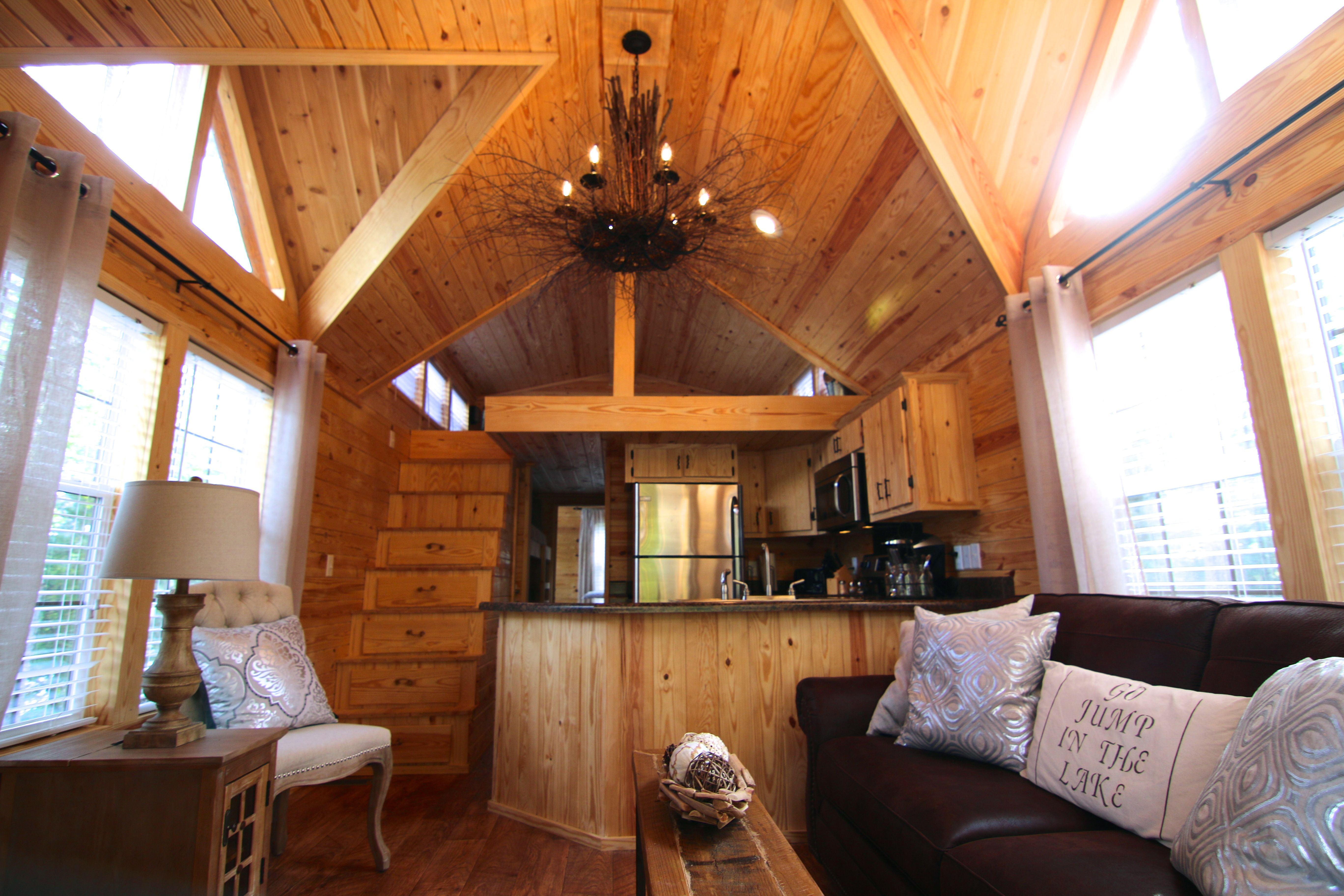 A park model cabin built by Rustic River Park Homes in Hamilton, AL ...