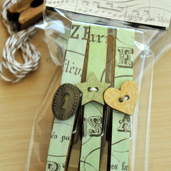 Altered Clothespins Gift Package