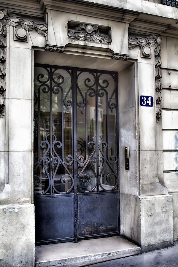 Paris Door – Blue Number 34 by Georgia Fowler