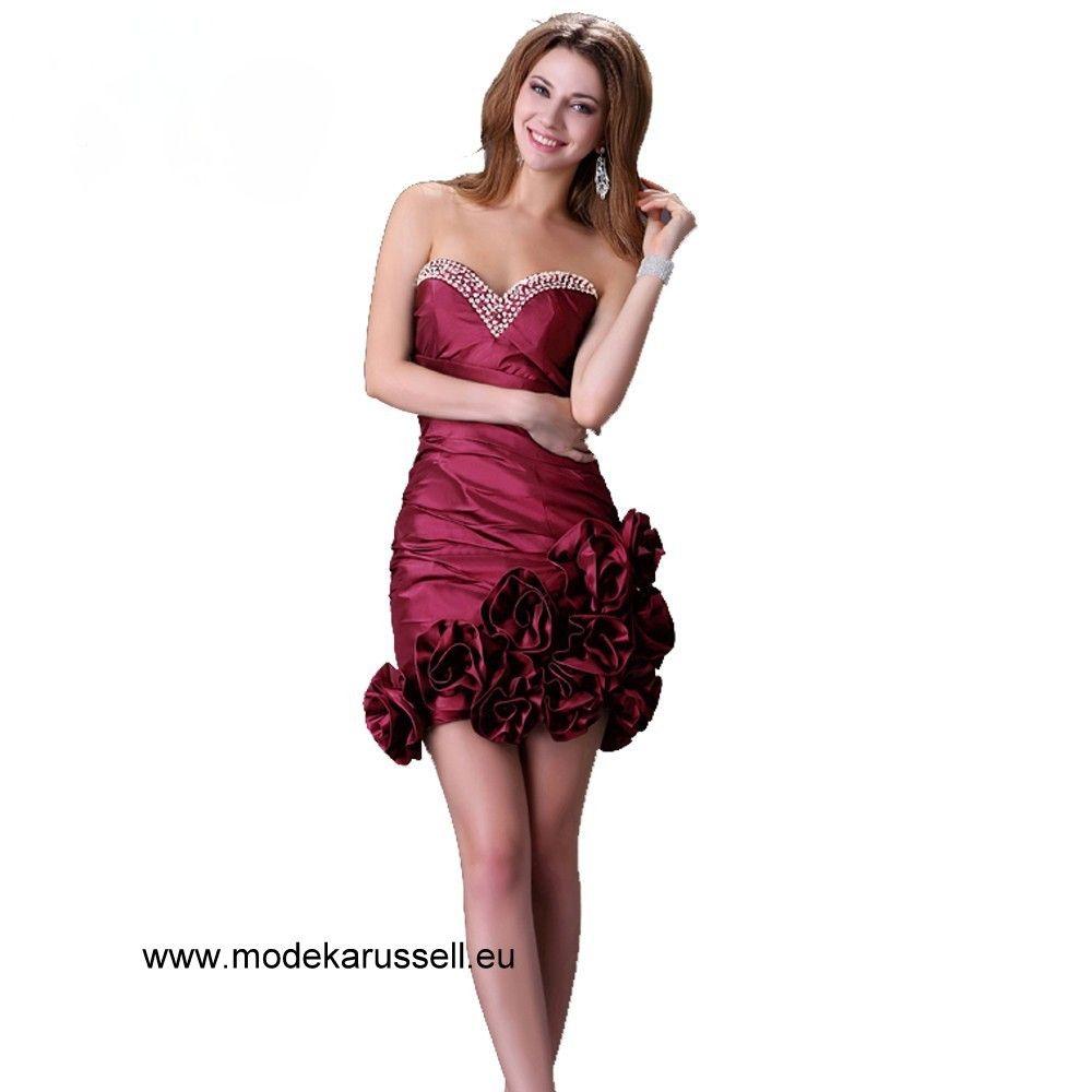 Sexy Mini Cocktailkleid in Weinrot | Rote Kleider online kaufen ...