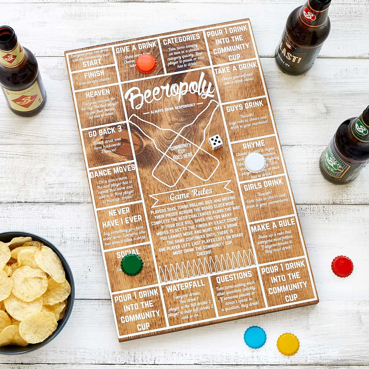 Beeropoly 'Tis Better To Give... Beer games, Gifts for