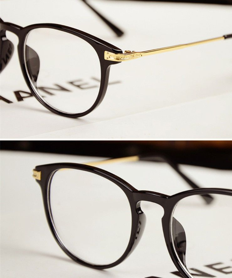 87e1953162 Vintage Men Women Eyeglass Frame Glasses Retro Spectacles Clear Lens  Eyewear Rx  Unbranded