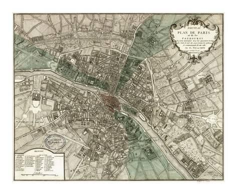 LARGE historic 1740 LONDON ENGLAND MAP OLD ANTIQUE STYLE FINE art print