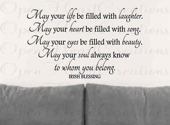 Wall Decals Irish Blessing Vinyl Wall Quote May Your Life Be - Nursery wall decals ireland