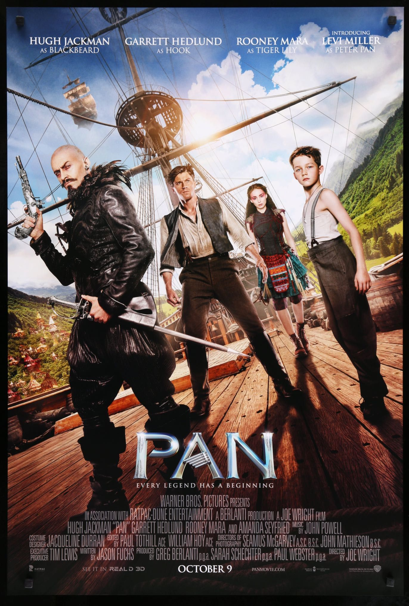 Pan 2005 Good Movies Peter Pan Movie Levi Miller