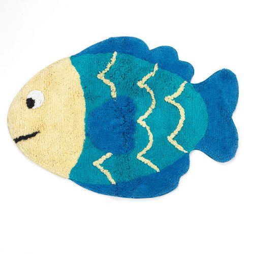 Superbe Laguna Fish Cotton Bath Rug   20x30