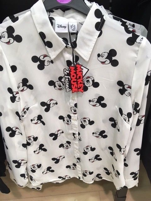Disney Ladies Mickey Mouse Shirt Blouse Top Primark Disney Clothes