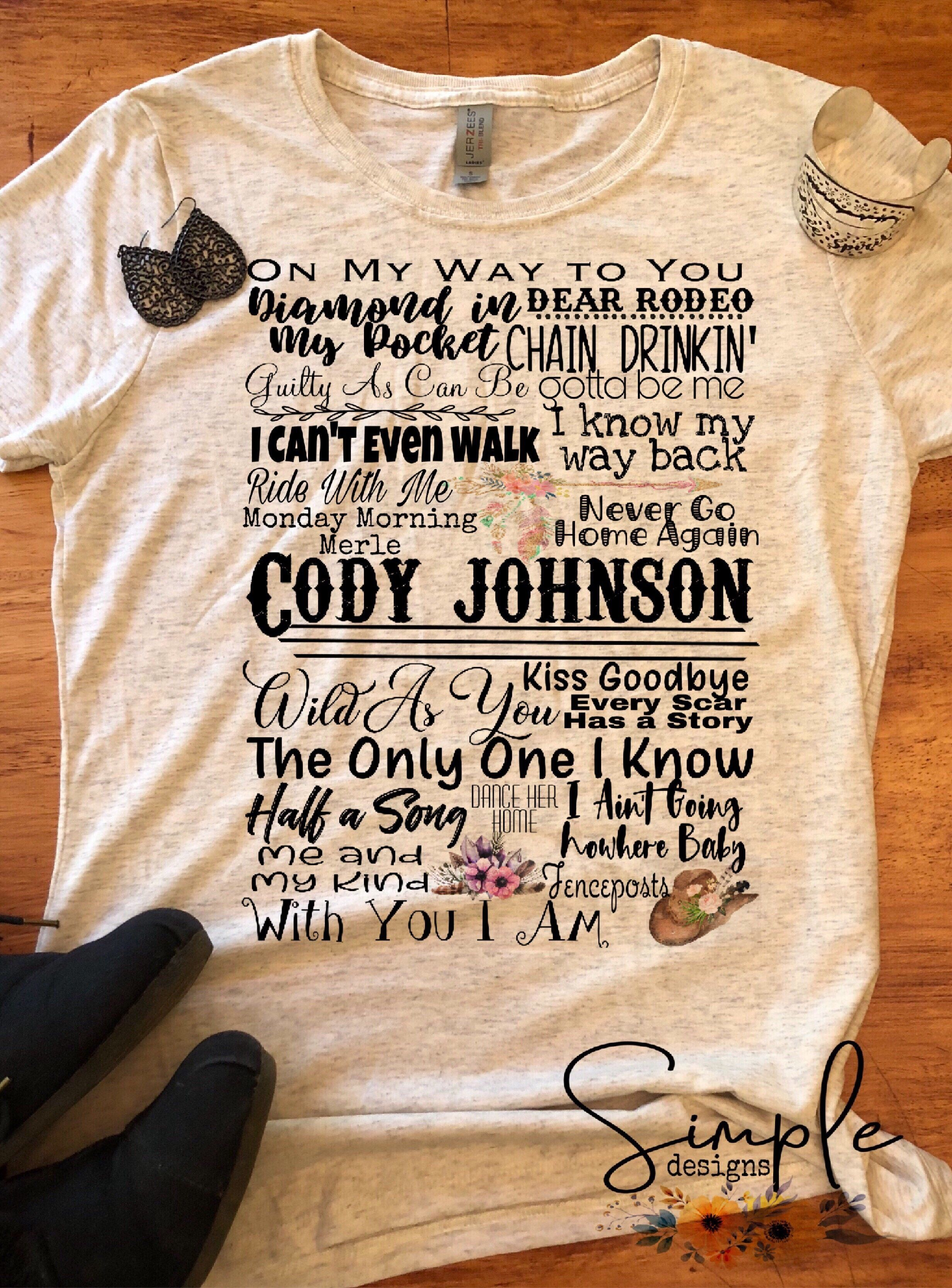 In Person Adult Mens T-Shirt Johnny Cash