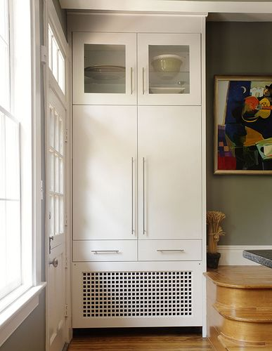 Pantry With Radiator Cover Home Radiators Radiator Cover Kitchen Design Decor