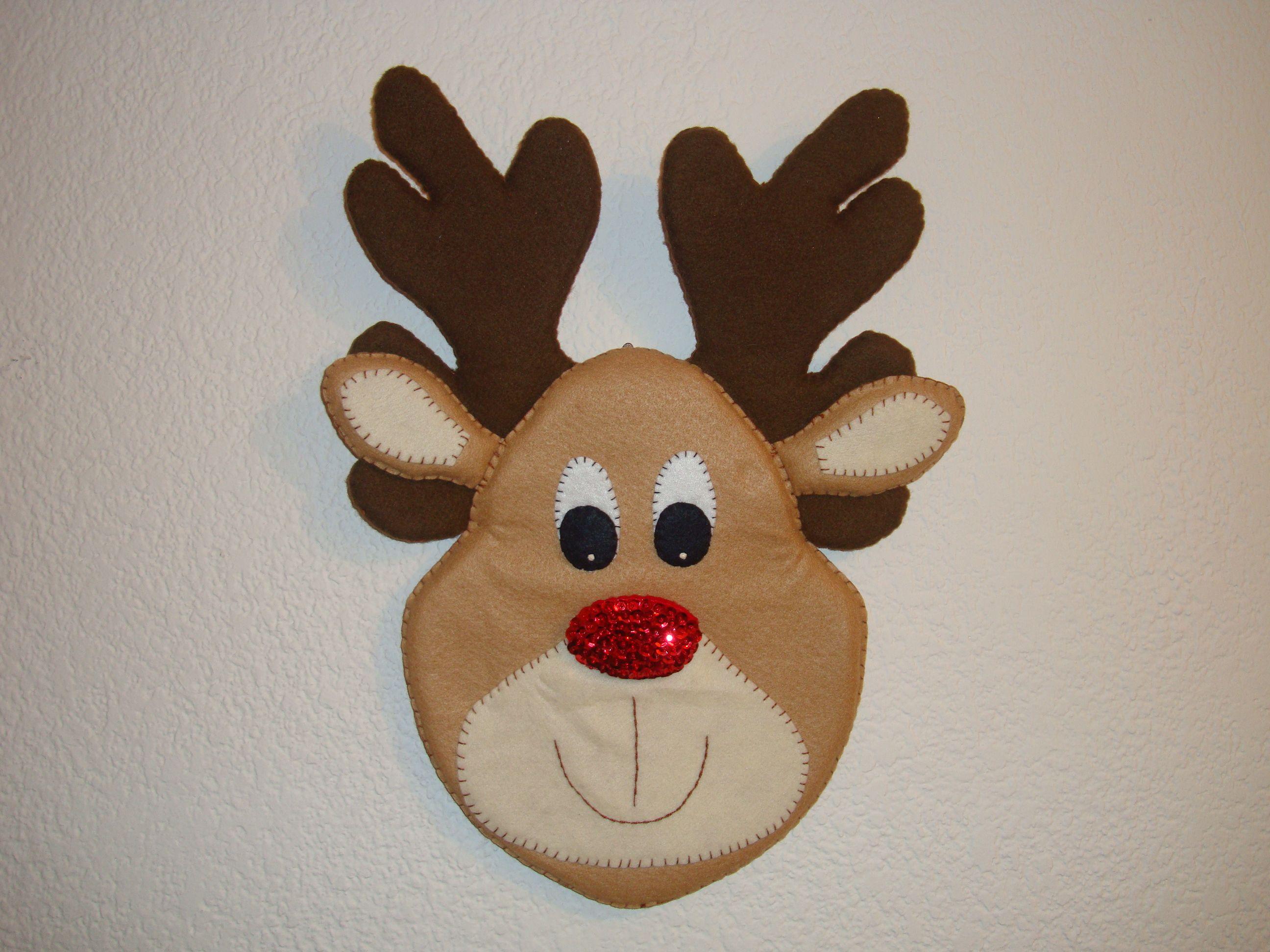Reno navide o fieltro navidad pinterest for Manualidades renos navidenos
