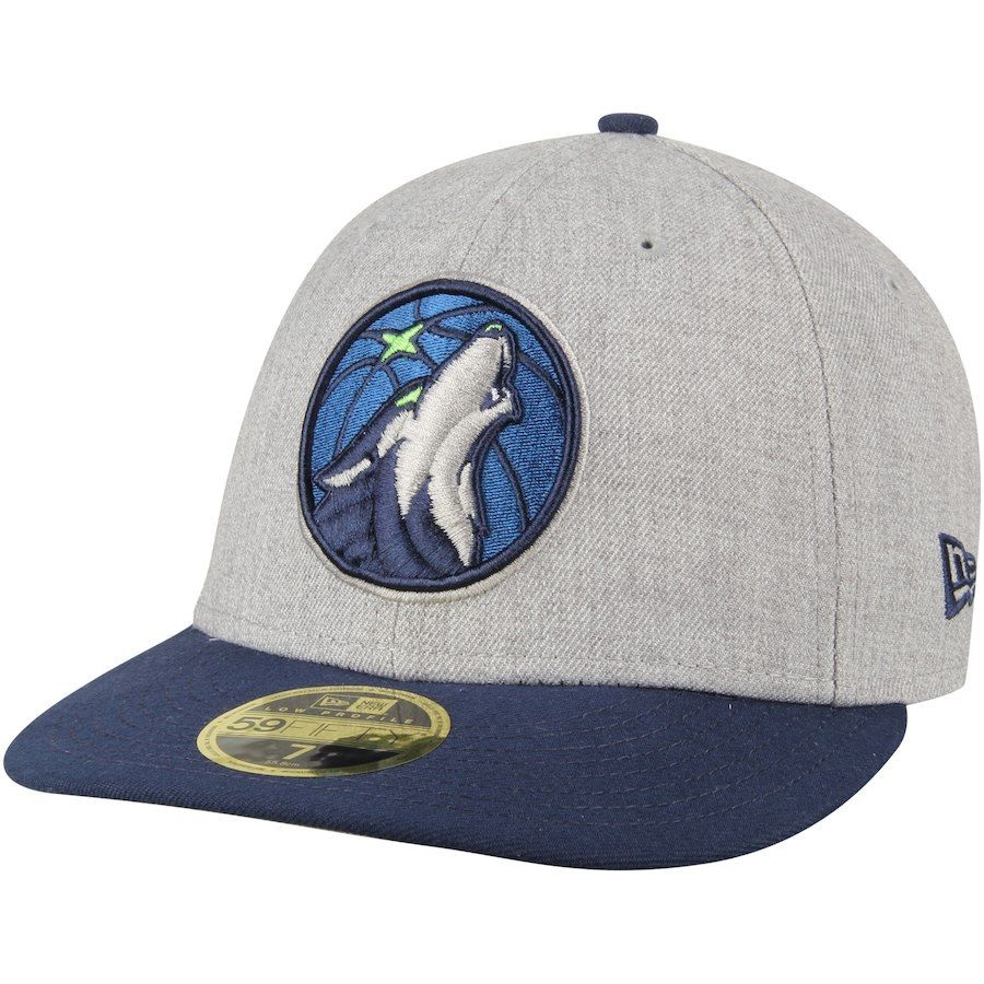 best cheap 48e1c 759bf Men s Minnesota Timberwolves New Era Heather Gray 2Tone Low Profile 59FIFTY  Fitted Hat, Your Price   34.99