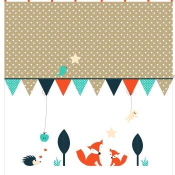 Fuchs Co Kinderzimmer Vorhang Gardine Baby Kinderzimmer
